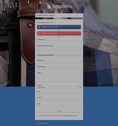 'Supplier_id I Peluang Bisnis Online Tanpa Modal Besar › Registration Form'